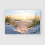 Sunset Baltic Sea Beach Poster, Pillow Case, Tumbler, Sticker, Ornament