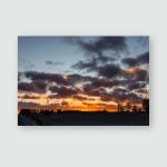 Sunset Over Cesis City Latvia Poster, Pillow Case, Tumbler, Sticker, Ornament