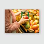 Zero Waste Womens Hands Put Fruit Poster, Pillow Case, Tumbler, Sticker, Ornament