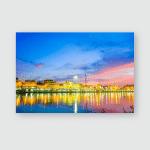Sunset Town Ratchaburi City Poster, Pillow Case, Tumbler, Sticker, Ornament