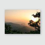 Sunset View Point Panchmarhi Poster, Pillow Case, Tumbler, Sticker, Ornament