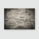 Zimbabwe On Map Poster, Pillow Case, Tumbler, Sticker, Ornament