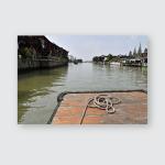 Zhujiajiao Chinaoctober 2019 Water Town On Poster, Pillow Case, Tumbler, Sticker, Ornament