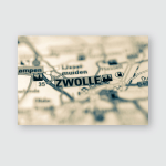 Zwolle On Map Poster, Pillow Case, Tumbler, Sticker, Ornament