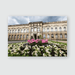 Zwinger Castle Dresden Germany Night Poster, Pillow Case, Tumbler, Sticker, Ornament