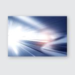 Super Streamlined High Speed Train Station Poster, Pillow Case, Tumbler, Sticker, Ornament