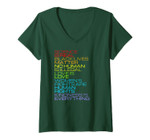 Womens Science Is Real Black Lives Matter Kindness Is Everything V-Neck T-Shirt