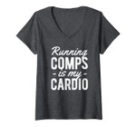 Womens Running Comps Is My Cardio Realtor Real Estate Agent Gift V-Neck T-Shirt