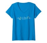 Womens Sewing Machine Funny Sew Quilting Quilter Seamstress Sewer V-Neck T-Shirt