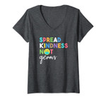 Womens Spread Kindness Not Germs 2020 Essential Be Kind V-Neck T-Shirt