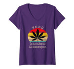 Womens Weed The Glue Holding This 2020 Shitshow Together Vintage V-Neck T-Shirt