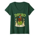Womens W20 Druid Roll 20-Sided Dice Role Play Game Dungeon Fantasy V-Neck T-Shirt