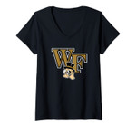 Womens Wake Forest Demon Deacons College Ncaa Ppwf03 V-Neck T-Shirt