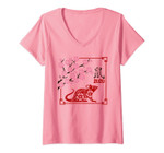 Womens Year Of The Rat Chinese Happy Lunar New Year 2020 Yin Yang V-Neck T-Shirt