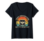Womens I Haven't Been Everywhere But It's On My List V-Neck T-Shirt