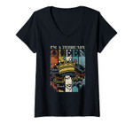 Womens I'm A February Birthday Black Queens Are Born In February V-Neck T-Shirt