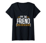 Womens If Lost Or Drunk Please Return To Friend Funny Drinking V-Neck T-Shirt