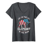 Womens I'm The Elephant In The Room T-Shirt Republica Conservative V-Neck T-Shirt