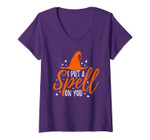 Womens I Put A Spell On You Halloween V-Neck T-Shirt