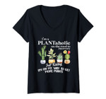 Womens I'm A Plantaholic On The Road To Recovery - Gardening Lovers V-Neck T-Shirt