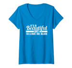 Womens It's A Beautiful Day To Leave Me Alone V-Neck T-Shirt