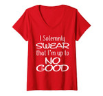 Womens I Solemnly Swear That I'm Up To No Good V-Neck T-Shirt