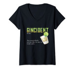 Womens Gincident Definition - Funny Glass Gin Drinking Lovers Gift V-Neck T-Shirt