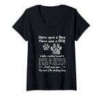 Womens There Was A Girl Who Really Loved Dogs And Tattoos Dog Owner V-Neck T-Shirt