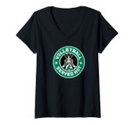 Womens Funny Volleyball Served Hot Perfect Gift Teen Players V-Neck T-Shirt