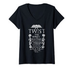Womens Twist The Bones And Bend The Back Halloween V-Neck T-Shirt