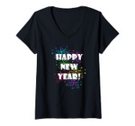 Womens Happy New Year Fireworks For 2020 V-Neck T-Shirt