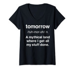 Womens Tomorrow A Mythical Land Definition V-Neck T-Shirt