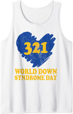 3-21 Trisomy 21 Support Shirt World Down Syndrome Day Tank Top