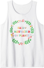 Easily Distracted By Plants - Floral Flower Gardener Gift Tank Top