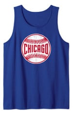 Retro Chicago-Baseball-Stitches Distressed Novelty-Cub-Gift Tank Top