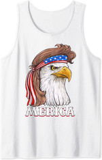 Eagle Mullet 4th Of July Usa American Flag Merica Tank Top