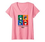 Womens The Beatles Seasons Greetings V-Neck T-Shirt
