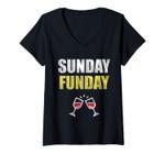 Womens Sunday Funday V-Neck T-Shirt