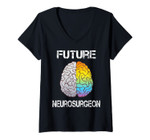 Womens Neuro Surgeon Brain Student Graduation Future Neurosurgeon V-Neck T-Shirt