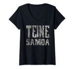 Womens Teine Samoa - Samoan Designs Clothing V-Neck T-Shirt