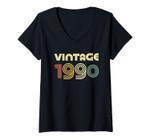 Womens Vintage 1990 T-Shirt 31st Birthday Gift Shirt V-Neck T-Shirt