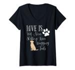 Womens Yellow Labrador Retriever Dog Gift Love Lab Dogs V-Neck T-Shirt