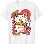 Maneki cat Anime Japan Ramen T-Shirt