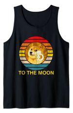 Dogecoin Logo Shirt Doge to the Moon Tank Top