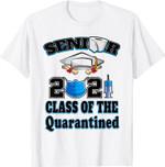 Class Of The Quarantined Seniors 2021 Graduation Him Her T-Shirt