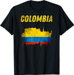 Distressed Columbian Flag Columbia Patriotic T-Shirt