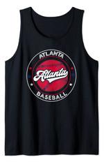 Atlanta Baseball ATL Distressed Game Day Brave Vintage Fan Tank Top