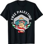 Free Palestine Flag Save Gaza Strip End The occupation T-Shirt