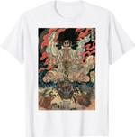 Japanese Vintage Artwork Tengu Gods Defeat The Evil Snake T-Shirt