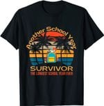 Longest School Year Ever Survivor Funny Student Teacher 2021 T-Shirt